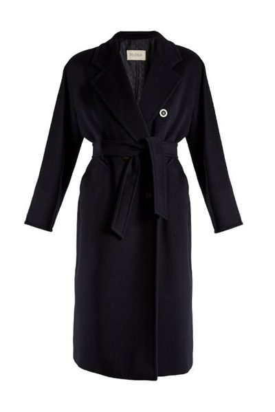 MAX MARA MAIN MADAME COAT NAVY Was: £1,299.00 Now: £650.00