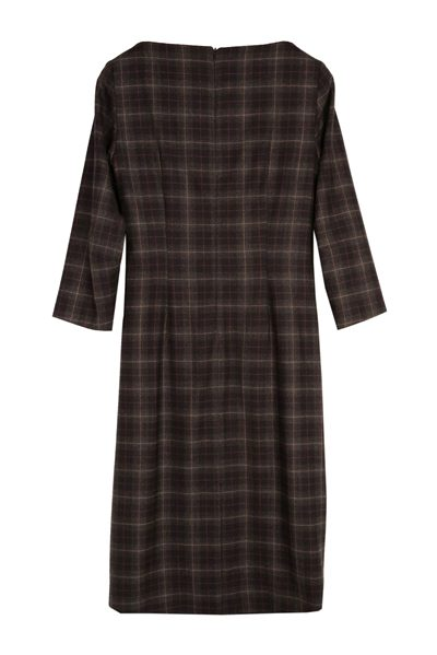 MAX MARA WEEKEND 3/4 SLEEVE TARTAN DRESS ULTRAMARINE Was: £253.00 Now: £100.00