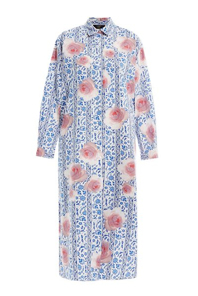 MAX MARA WEEKEND RUTA SHIRT DRESS CORNFLOWER BLUE Was: £280.00 Now: £140.00