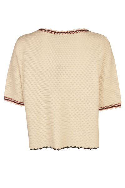 MAX MARA WEEKEND TABACCO SHORT SLEEVE KNIT WHITE Was: £244.00 Now: £122.00