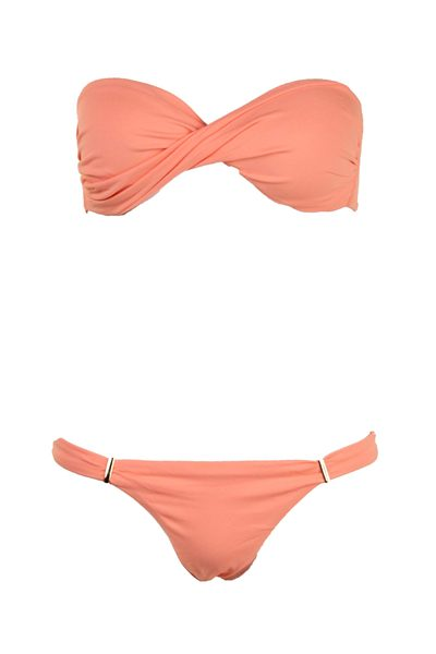 MELISSA ODABASH Martinique Two Piece PEACH Was: £180.00 Now: £90.00