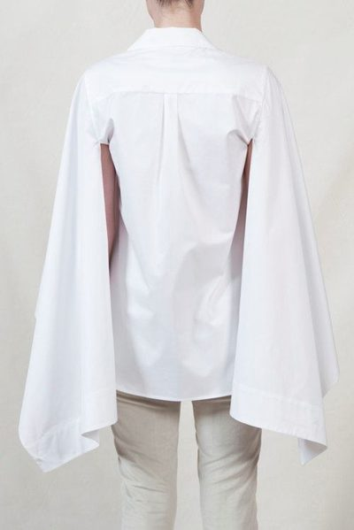 PALMER / HARDING FLAG SLEEVE SHIRT WHITE Was: £288.00 Now: £100.00