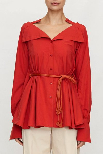 PALMER / HARDING PORTRAIT SHIRT RED Was: £357.00 Now: £178.00