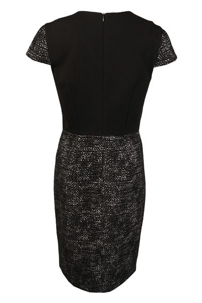 PAULE KA DUAL-FABRIC DRESS BLACK Was: £462.00 Now: £100.00