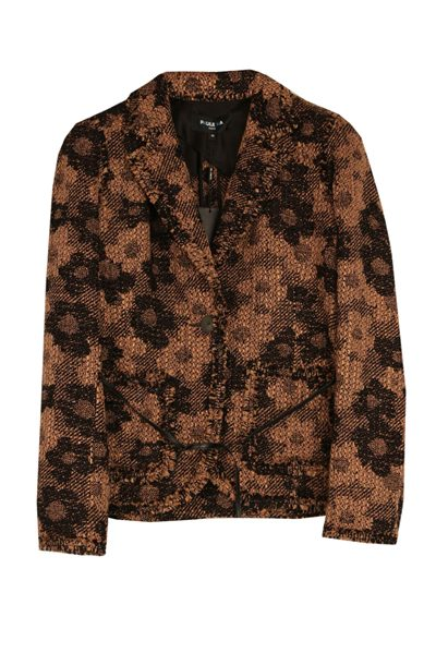 PAULE KA FLORAL TWEED JACKET BLACK CARAMEL Was: £673.00 Now: £336.00