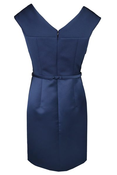 PAULE KA SATIN BELTED DRESS BLUE Was: £520.00 Now: £415.00