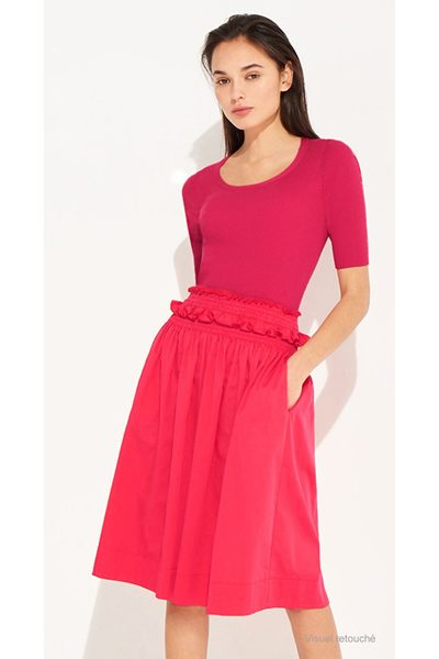PAULE KA SATIN SKIRT PINK Was: £316.00 Now: £158.00
