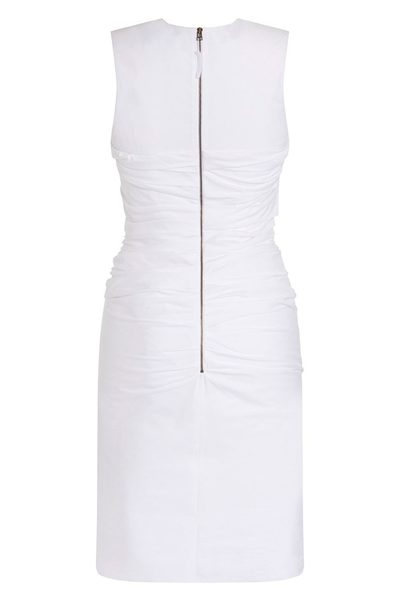 PAULE KA SLEEVELESS COTTON DRESS WHITE Was: £520.00 Now: £260.00