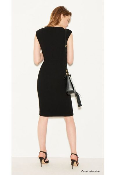 PAULE KA STRETCH WOOL DRESS BLACK Was: £533.00 Now: £266.00