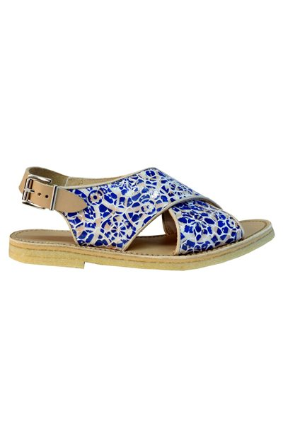 PENELOPE CHILVERS MAX ALHAMBRA SANDAL 634 BLUE WHITE Was: £169.00 Now: £84.00
