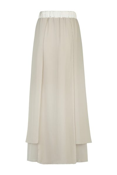 PESERICO Beige layered skirt BEIGE Was: £188.00 Now: £150.00