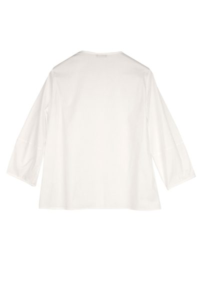 PESERICO CROPPED SLEEVE BLOUSE WHITE Was: £198.00 Now: £50.00