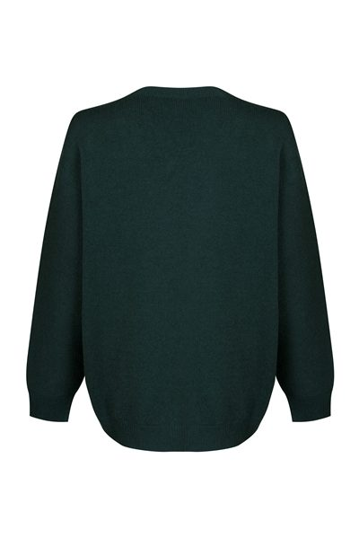 PESERICO FOREST GREEN CREW NECK KNIT GREEN Was: £295.00 Now: £147.00