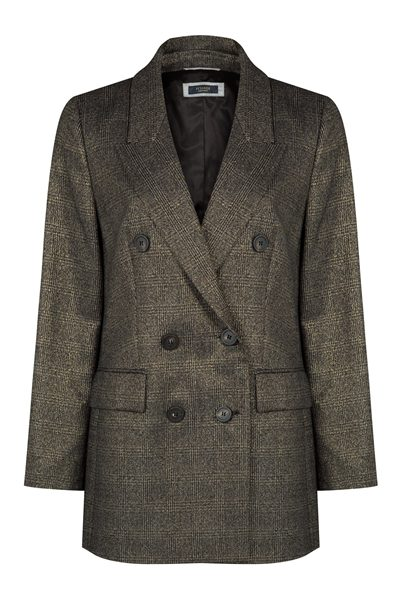 PESERICO Gold check jacket GOLD Was: £662.00 Now: £300.00