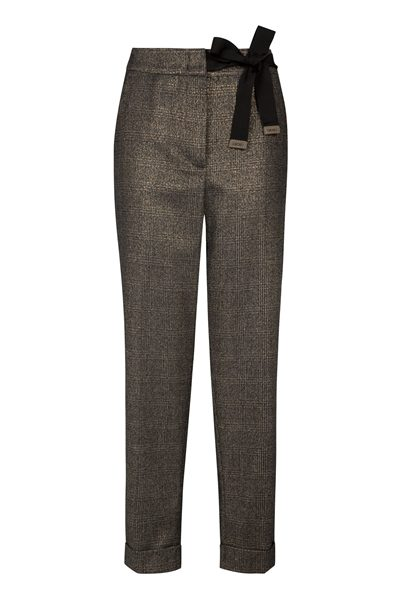 PESERICO Gold navy check trousers BLACK Was: £425.00 Now: £212.00