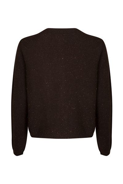 PESERICO SPARKLE BOXY CARDIGAN BROWN Was: £382.00 Now: £190.00