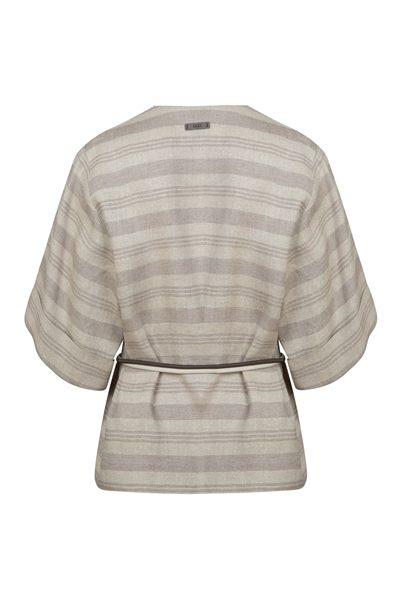 PESERICO STRIPED LINEN JACKET MULTI Was: £543.00 Now: £200.00