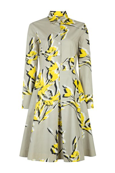 PIAZZA SEMPIONE beige and yellow floral shirt dress BEIGE Was: £505.00 Now: £200.00
