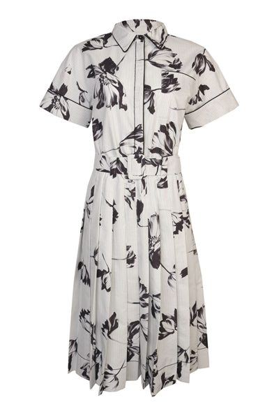 PIAZZA SEMPIONE FLORAL STRIPE PRINT DRESS FLOWER Was: £790.00 Now: £395.00