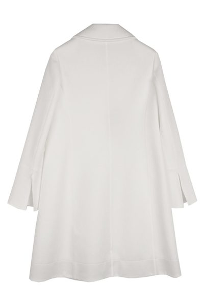 PIAZZA SEMPIONE LONGLINE WHITE COAT 0802 Was: £690.00 Now: £250.00
