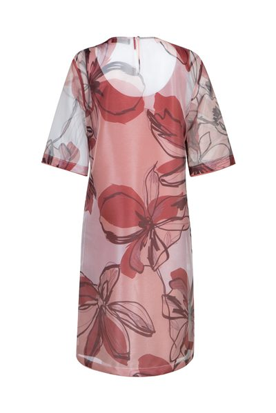 PIAZZA SEMPIONE PINK FLORAL ORGANZA DRESS WHITE ROSE Was: £670.00 Now: £335.00