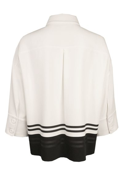 PIAZZA SEMPIONE WHITE STRIPE BLOUSE STRIPE Was: £429.00 Now: £214.00