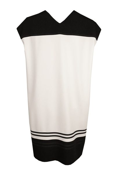 PIAZZA SEMPIONE WHITE STRIPE DRESS WHITE Was: £475.00 Now: £238.00
