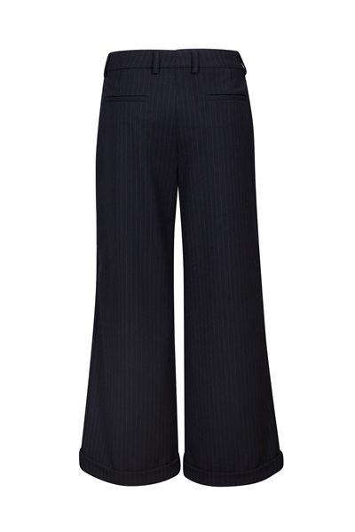 PIAZZA SEMPIONE WIDE LEG PINSTRIPE TROUSERS BLUE Was: £315.00 Now: £157.00