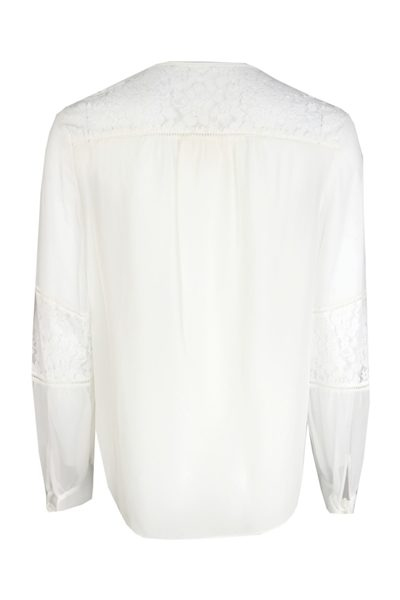 REBECCA TAYLOR SARAH TOP CHALK Was: £240.00 Now: £120.00
