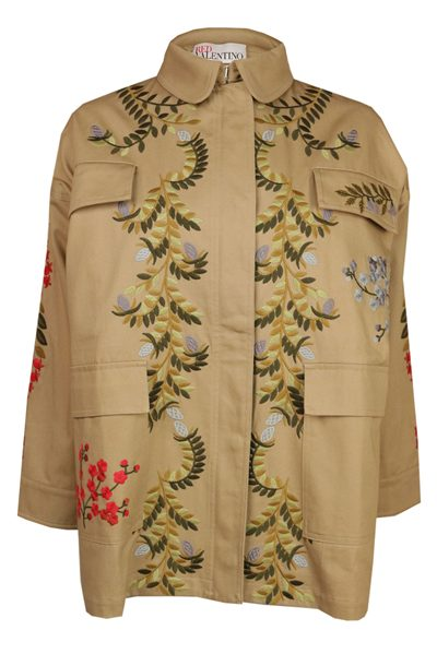 RED VALENTINO FLORAL VINES JACKET CORDA Was: £668.00 Now: £334.00