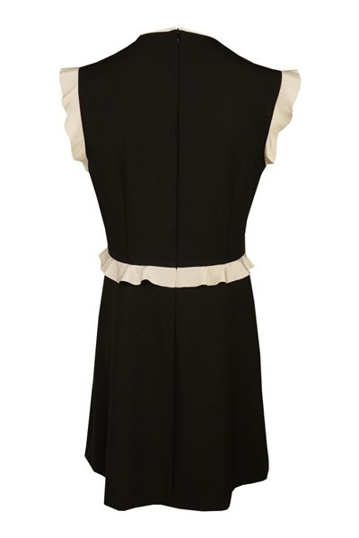 RED VALENTINO MONOCHROME RUFFLE DRESS NEVO Was: £355.00 Now: £177.00