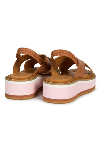 ROBERT CLERGERIE Leather sandal TERACOTTA Was: £390.00 Now: £195.00
