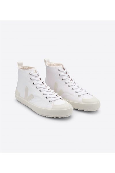 VEJA NOVA HIGH TOP CANVAS TRAINER IN WHITE PIERRE WHITE Was: £85.00 Now: £45.00