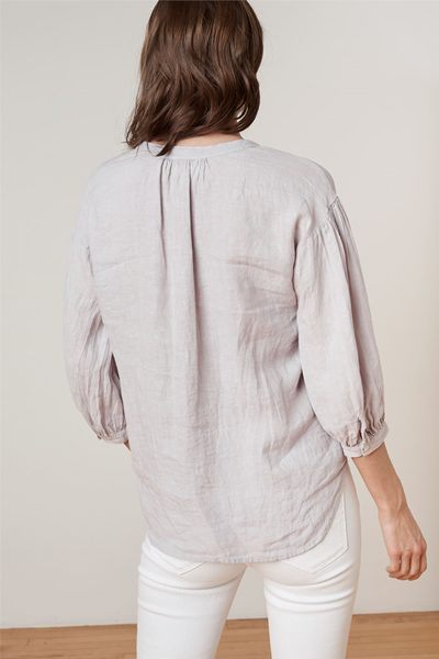 VELVET MATEA LINEN BLOUSE DOVE Was: £195.00 Now: £98.00