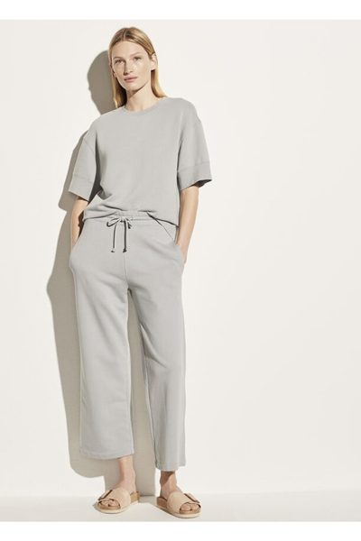 VINCE Garment Washed French Terry Cropped Pant FOG £242.00