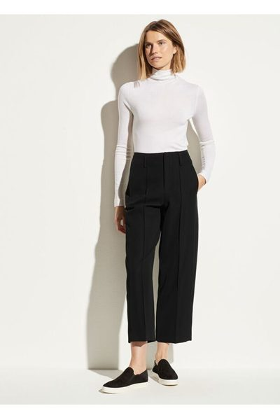 VINCE Straight Cropped Pant BLACK £310.00