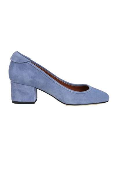 YVONNE KONE BLOCK HEELED PUMP BLUE Was: £345.00 Now: £50.00