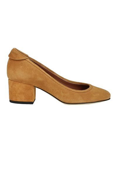 YVONNE KONE BLOCK HEELED PUMP TAUPE Was: £345.00 Now: £50.00