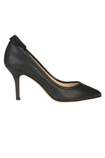 YVONNE KONE Classic Heeled Leather Pump BUFFALO PETROL Was: £345.00 Now: £50.00