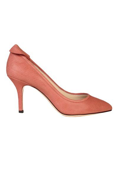 YVONNE KONE Classic Heeled Leather Pump BUFFALO ROSE Was: £345.00 Now: £50.00
