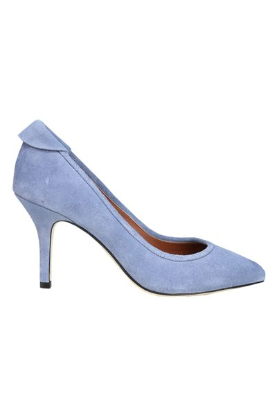 YVONNE KONE CLASSIC HEELED PUMP BLUE Was: £345.00 Now: £50.00