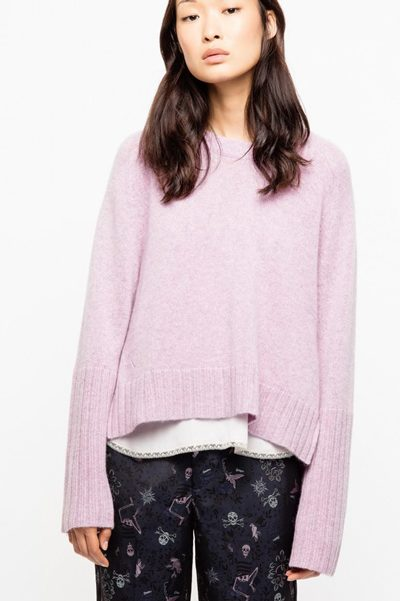 c7bff335936be ZADIG & VOLTAIRE Lea Cashmere Knit LILAC