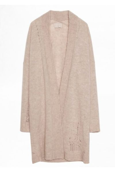 ZADIG & VOLTAIRE ROSA BAM CARDIGAN OAT Was: £368.00 Now: £184.00