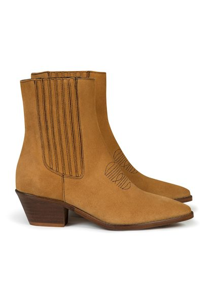 ZADIG & VOLTAIRE TYLER SUEDE ANKLE BOOTS TAN Was: £330.00 Now: £165.00